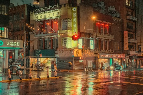 Capturing the Magic of New York's Chinatown Before Dawn Breaks