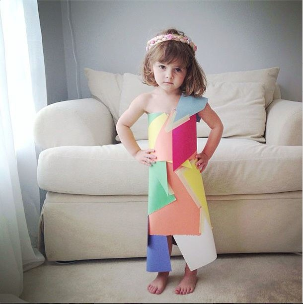Adorable 4-Year-Old Girl Creates Fashionable Paper Dresses