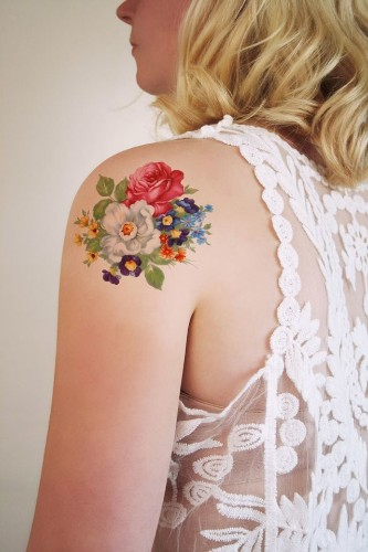Temporary Tattoos Specially Designed with an Old School Twist
