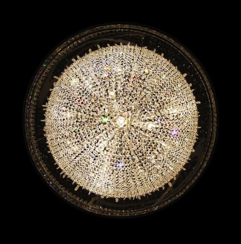 Magnificent Chandelier with Gittering Suspended Crystals