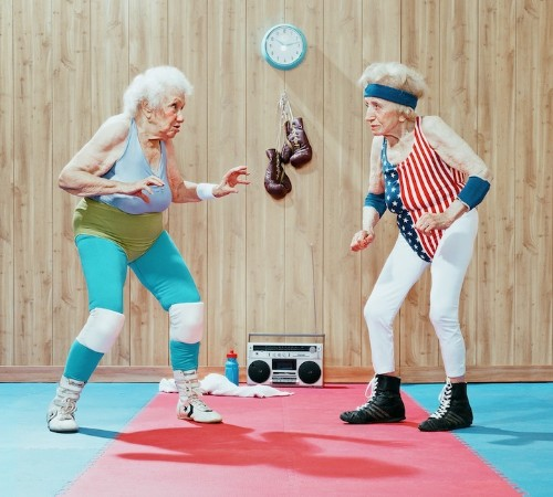 Senior Citizens Display Spirit and Spunk in Humorous Sports Photos