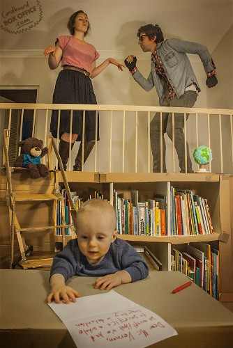 Awesome Family Continues to Recreate Movie and Television Scenes Using Cardboard Boxes