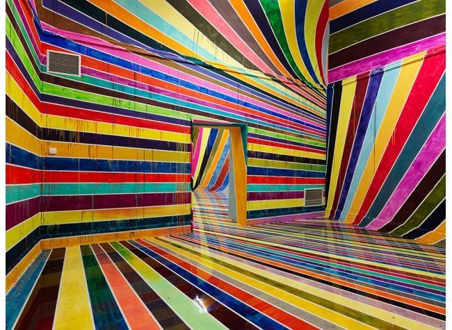 Disorienting Rainbow Room in Germany