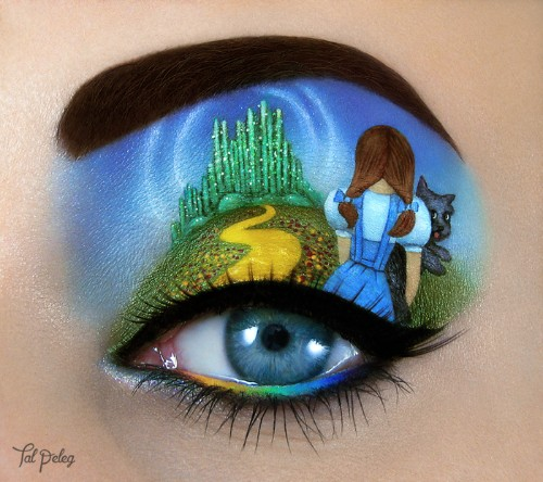 Artist Transforms Her Eyelids into Paintings Inspired by Movies, Musicals, and Books