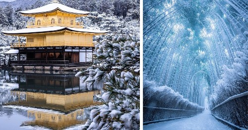 Photographer Captures the Magical Beauty of Kyoto's Temples in Winter