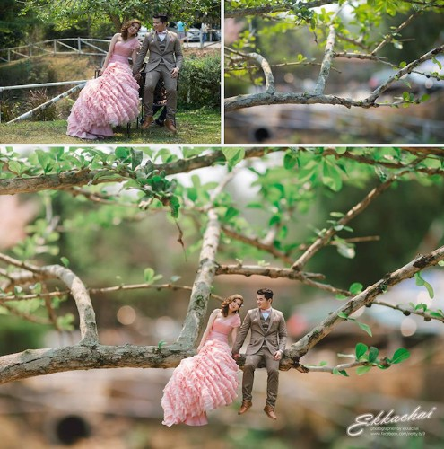 Wedding Photographer Shrinks Couples Into Tiny People with Big Love Stories