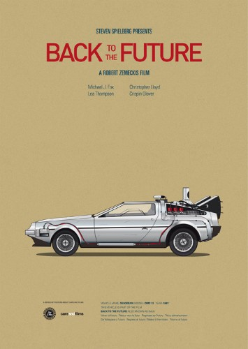 Classic Posters of Iconic Movie Cars