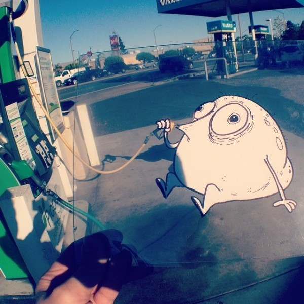 Funny and Creative Doodles Interact with Real World Scenes