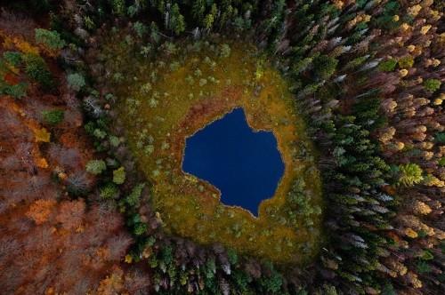 Aerial Photos of Poland's Lakes Across Four Seasons