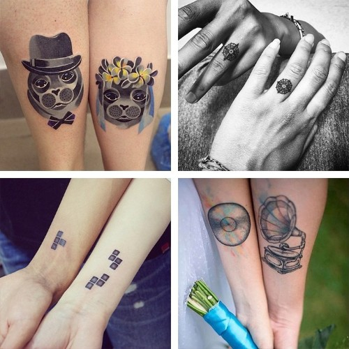 15 Couples' Matching Wedding Tattoos Visually Honoring Their Marriage Vows