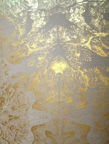Brilliant Award-Winning Gold Leaf Painting by Richard Wright