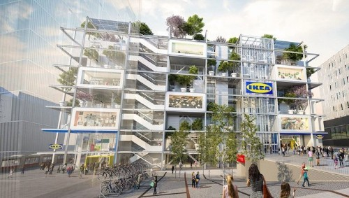 IKEA's New Vienna Store Includes a Green Roof and No Car Parking