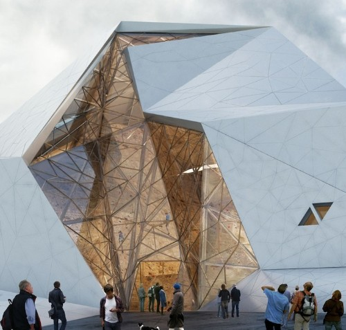 Rock Climbing Building Blends in Naturally with Environment