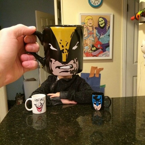 Creative Dad Uses Pop Culture-Themed Mugs to Turn His Kids into Superheroes