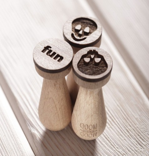 Laser Embossed Rolling Pins Imprint Playful Patterns into Cookie Dough