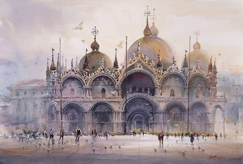 Spectacular Watercolor Paintings Illustrate the Captivating Elegance of Cities Around the World