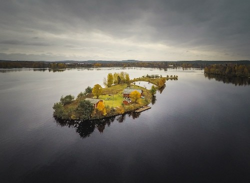 Amazing Aerial Photos of a Finnish Island Across Four Seasons