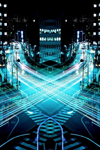 Magnificent Mirror Symmetry Long Exposures of Nighttime Japan