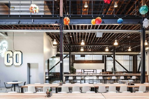 Pinterest's Newly Restored Creative Headquarters
