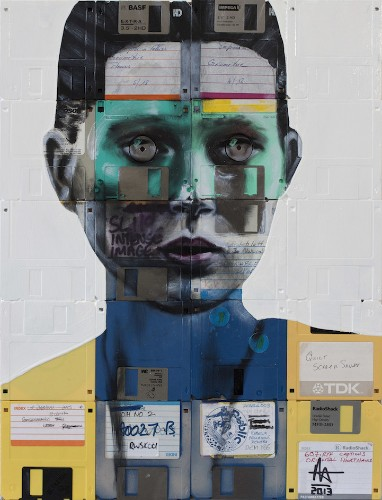 New Floppy Disc and Film Negative Portraits by Nick Gentry