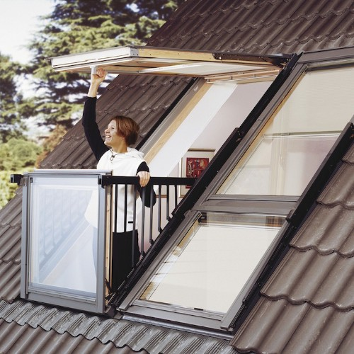 Innovative Skylight Window Easily Transforms into Rooftop Balcony