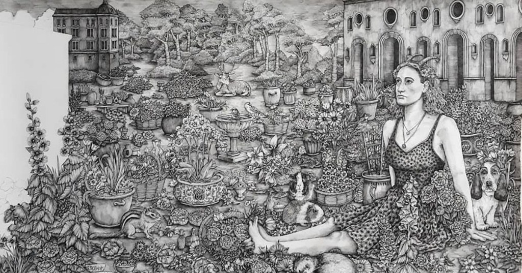 Intricate Illustrations of the 5 Senses Inspired by Art in the Museo del Prado Museum