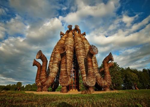 Extraordinary Woven Tube Sculpture by Nikolay Polissky