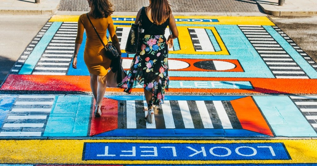 Vibrant Street Mural Transforms a Busy Crosswalk Into a Walkable Work of Art