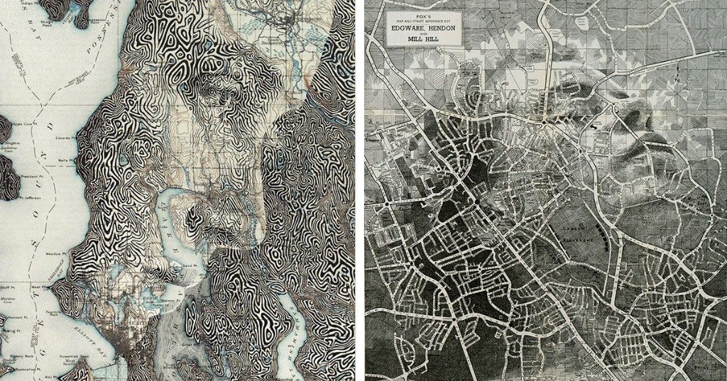 Artist Draws Detailed Human Portraits Emerging From Map Contours and Patterns [Interview]