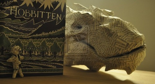 Incredible Smaug Book Sculpture Pops Off the Page