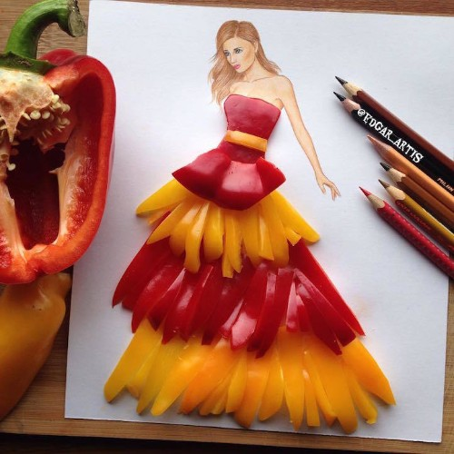Real Life Objects Used as Playful Ingredients for Fabulous Fashion Illustrations