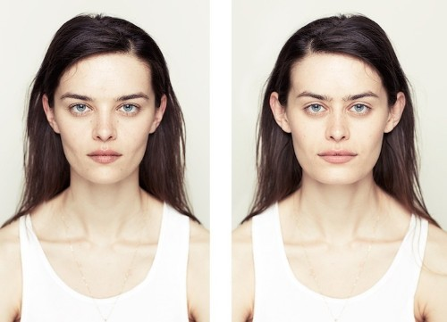 Photographer Explores Beauty Through Facial Symmetry