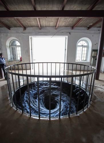 Anish Kapoor's Swirling Vortex of Black Water