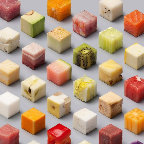 Meticulously-Arranged Photo Transforms Whole Foods into Identical Cubes