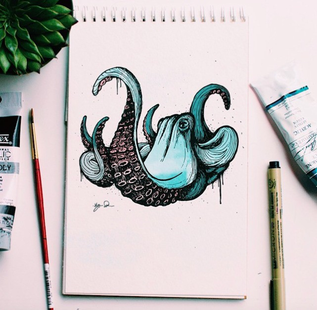 Father Illustrates Animals Every Day to Teach His Son the Alphabet