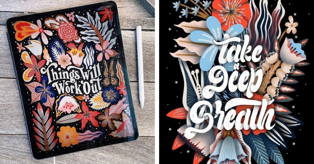 These Encouraging Hand-Lettered Illustrations Will Brighten Your Day