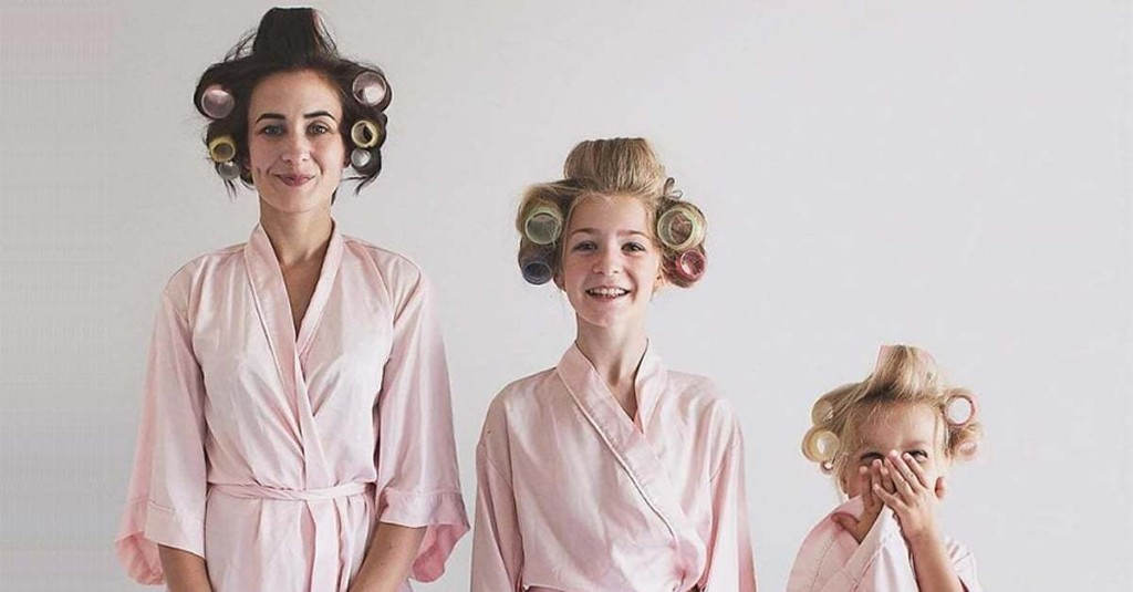 Mom and Daughters in Matching Outfits Continue to Make Us Smile in Adorable New Photos