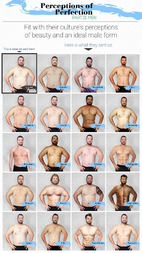 Man Had His Body Photoshopped in 19 Countries to Compare Beauty Standards Across the World
