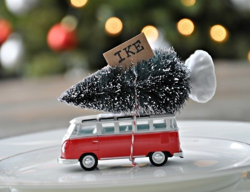 Charming Holiday DIY: Toy VW Bus Carries Miniature Tree