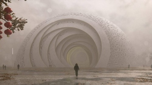 Architects Design Stunning Theater Inspired by 19th-Century Chinese Puzzle Balls