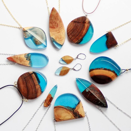 Designer Transforms Wood Fragments into Brilliant, One-of-a-Kind Accessories