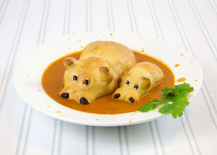 Delightful Recipe Makes Bread Hippos That Peek out of Soup