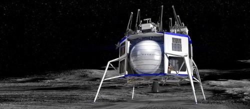 Amazon's Jeff Bezos Unveils New Space Lander to Bring Supplies to the Moon