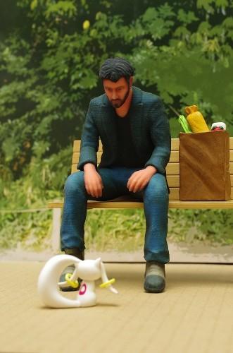 "Funny ""Sad Keanu"" Meme Revived as a 3D Printed Toy Figure"
