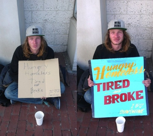 Raising Poverty Awareness with New Homeless Signs