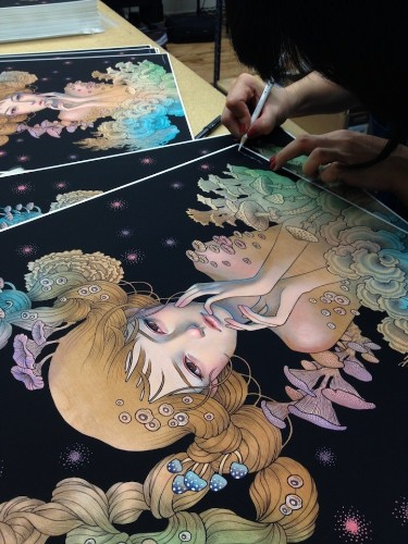 Audrey Kawasaki's New Sea-Inspired Art Print