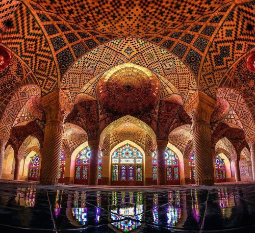 Stunning Mosque is Illuminated with a Kaleidoscope of Colors