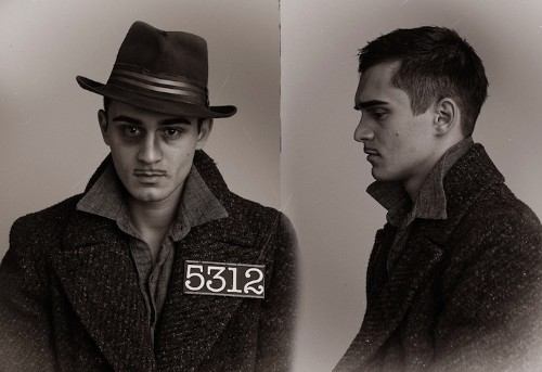 Creative Mugshots Portray Style of 1920's Criminals