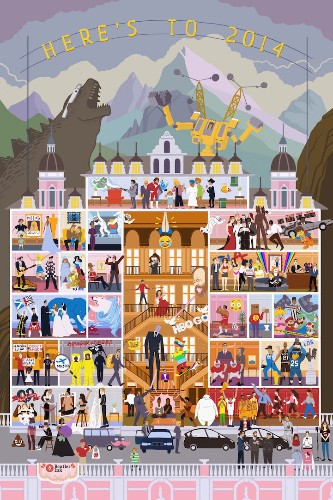 2014's Biggest Moments Highlighted in Detailed Illustration