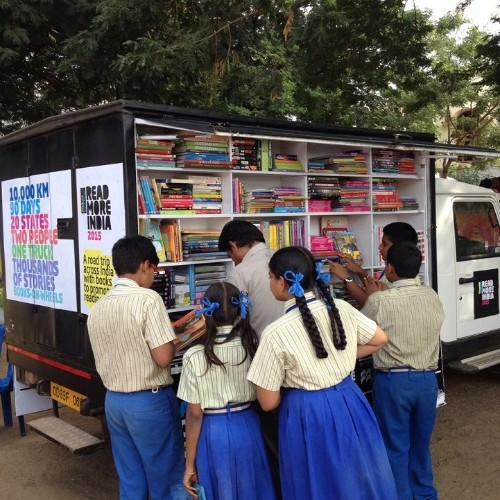 Inspiring Couple Turns Truck into Mobile Library with 4,000 Books to Promote Reading Across India